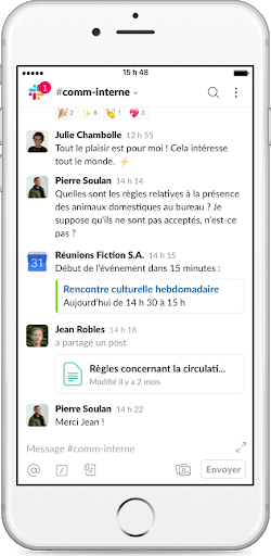 exemple d'application mobile agence creads