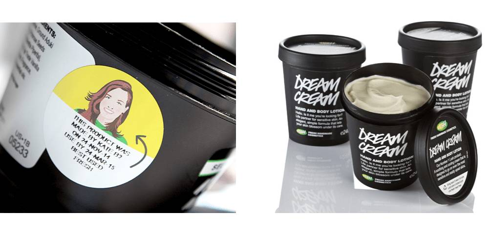 Packaging image de marque Lush agence creads