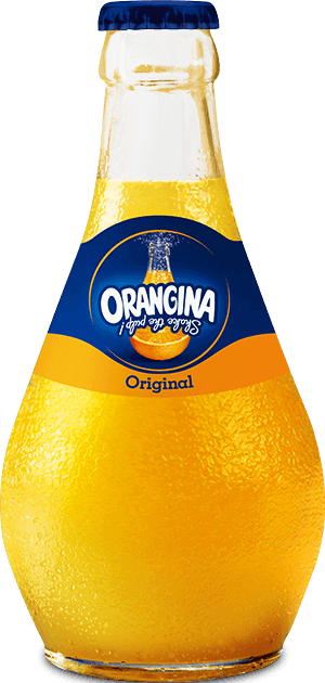Packaging inspirant bouteille Orangina agence creads